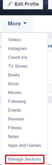 Facebook-manage-sections-hide-groups